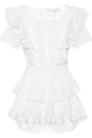 LOVESHACKFANCY Vestido corto Natasha de algodón