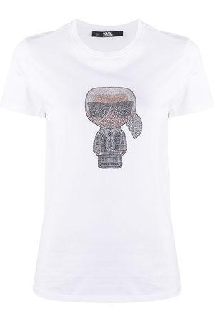 Karl Lagerfeld Camiseta Ikonik Karl en strass