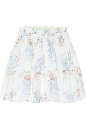 LOVESHACKFANCY Minifalda Cheyon de algodón floral