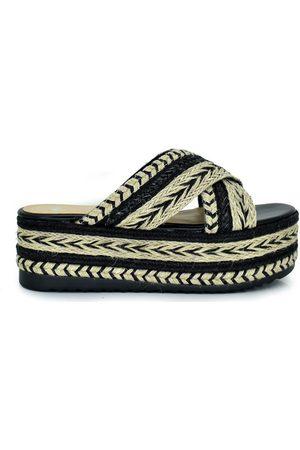 Exé Shoes Mujer Sandalias - Alpargatas SANDALIA PLATAFORMA RAFIA PALA CRUZADA 8896-9 para mujer