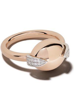 Botier Anillo Earth en oro rosa de 18kt con diamantes