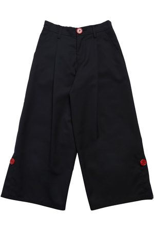 Marni | Niña Pantalones Anchos De Mezcla De Lana 8a