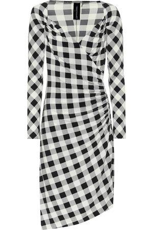 Norma Kamali Exclusivo en Mytheresa – vestido asimétrico de punto fino