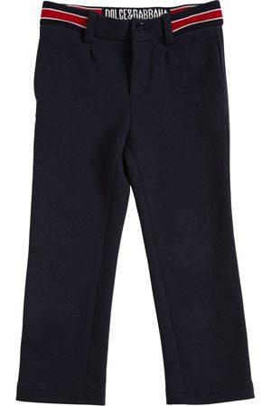 Dolce & Gabbana | Niño Cotton Pants W/ Logo Detail 8a