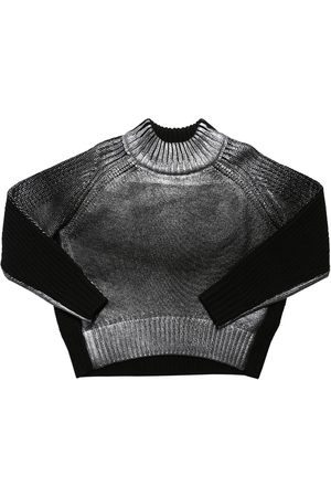 Diesel | Niña Suéter De Punto De Lana Color Block /negro 10a
