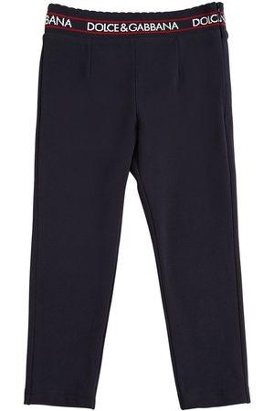 Dolce & Gabbana | Niña Cotton Interlock Pants W/ Logo Detail 8a