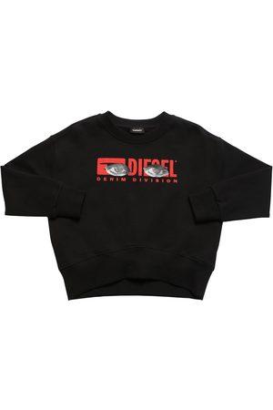 Diesel | Niña Sudadera De Algodón Con Logo Estampado 8a