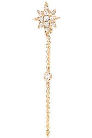 Roxanne First Pendiente estilo estrella en oro amarillo de 14kt con diamante