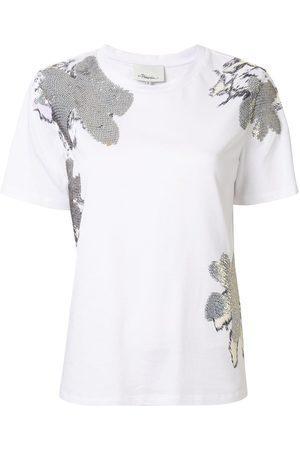 3.1 Phillip Lim Camiseta con detalles de margaritas