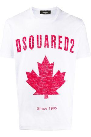 Dsquared2 Camiseta con cuello redondo y logo estampado