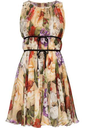 Dolce & Gabbana Vestido de gasa con estampado floral