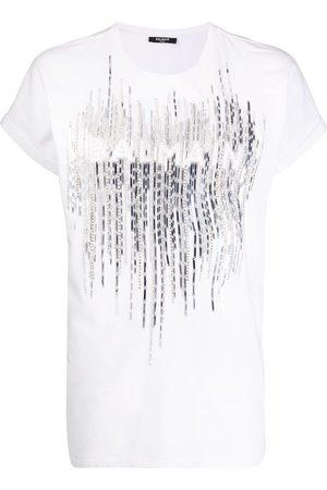 Balmain Mujer Tops - Camiseta con logo con detalles