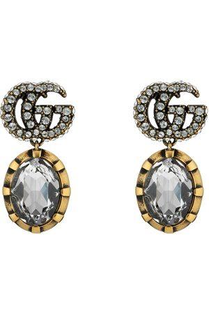 Gucci Pendientes de Doble G con cristales