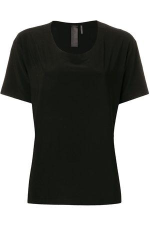 Norma Kamali Mujer Tops - Camiseta con cuello redondo