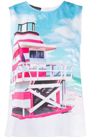 Moschino Top con estampado de torre de playa