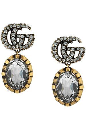 Gucci Pendientes con GG y cristales