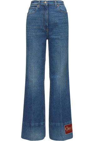 Gucci | Mujer Jeans Acampanados De Denim De Algodón 24
