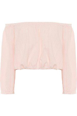 Melissa Odabash Crop top Danna de algodón de rayas