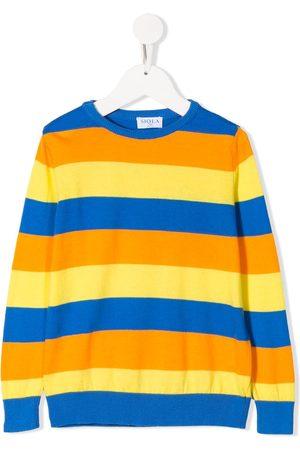 SIOLA Striped crew-neck jumper