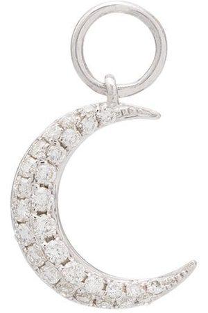 Roxanne First Mujer Pendientes - Charm en oro blanco de 14kt con diamante