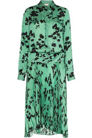 Plan C Mujer Estampados - Vestido camisero con hojas estampadas