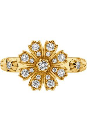 Gucci Anillos - Anillo Flora 18 K con diamantes