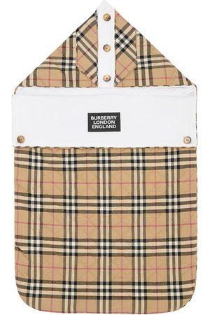 Burberry | Niña Sleeping Bag De Sarga De Algodón Pespunteado 6m