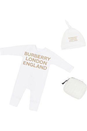 Burberry   Niña Pelele Y Gorro De Algodón Jersey 3m