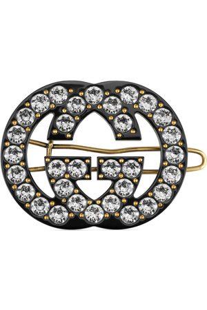 Gucci Pasador con cristales y GG