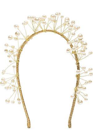 Jennifer Behr Diadema Primavera con perlas