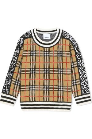Burberry Jersey con panel House Check