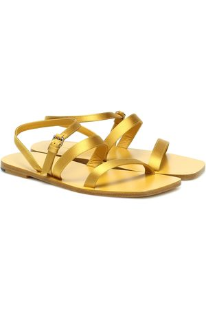 The Row Exclusivo en Mytheresa – sandalias Flat Wedge de piel
