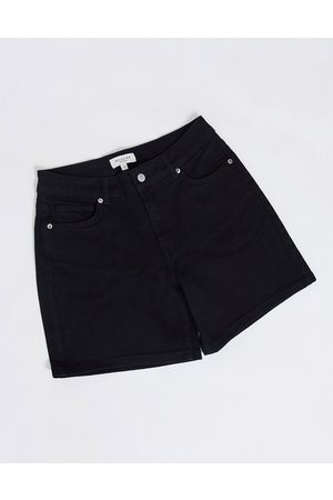 Selected Pantalones vaqueros cortos negros de talle medio de Femme