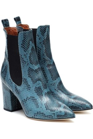 PARIS TEXAS Exclusivo en Mytheresa – botines de piel efecto serpiente