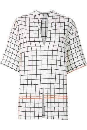 OSKLEN Camisa con estampado de cuadrícula
