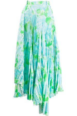 Balenciaga Falda Dynasty plisada con estampado floral