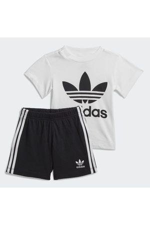 adidas Niño Shorts o piratas - Conjunto camiseta y pantalón corto Trefoil