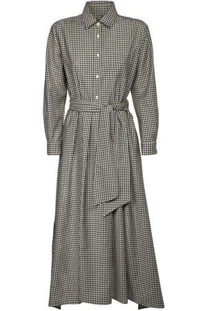 Max Mara | Mujer Checked Wool Gabardine Shirt Dress 36