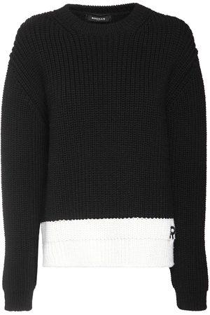 Rochas | Mujer Suéter De Punto De Lana Con Logo /blanco 38