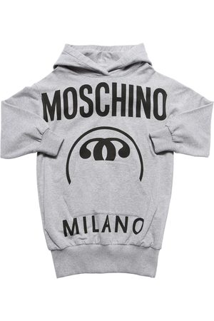 Moschino | Niña Vestido Sudadera De Algodón Con Logo Y Capucha 8a