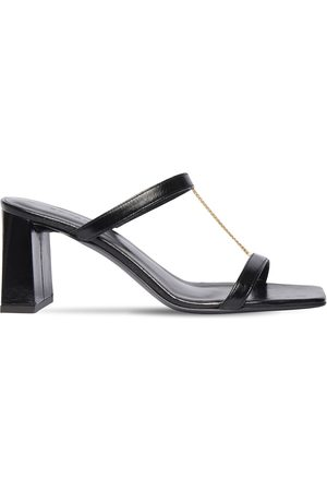 By Far   Mujer 80mm Chloe Creased Leather Sandals 35