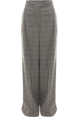 J.W.Anderson | Mujer High Waist Checked Wool Wide Leg Pants 6