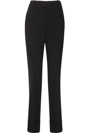Rochas | Mujer Pantalones Rectos De Satén 38