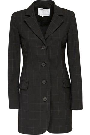 Designers Remix | Mujer Aja Wool Blend Crepe Mini Blazer Dress 34