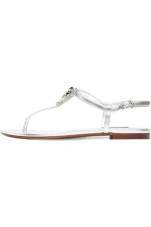 Dolce & Gabbana | Mujer Sandalias De Piel Metalizada 10mm 40