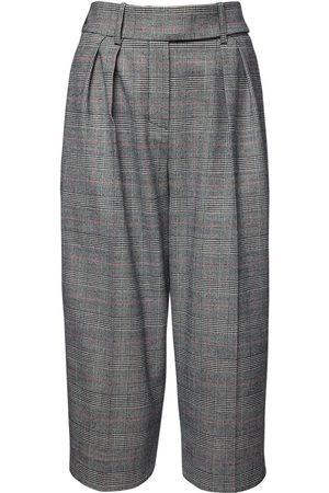 ALEXANDRE VAUTHIER | Mujer Shorts Bermuda De Lana Principe De Gales /multicolor 34