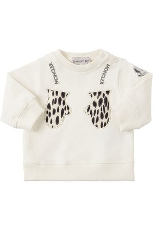 Moncler | Niña Cotton Sweatshirt W/ Patches 12-18m