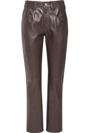 MM6 MAISON MARGIELA   Mujer Pantalones Rectos De Piel 36