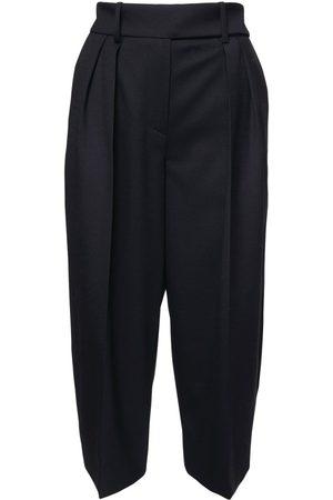 ALEXANDRE VAUTHIER | Mujer Shorts Bermuda De Franela De Lana Cintura Alta 34