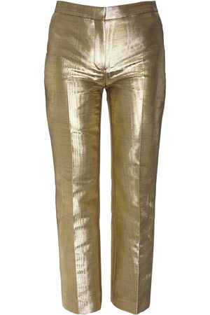Alexander McQueen | Mujer Pantalones Cigarette De Moiré 36